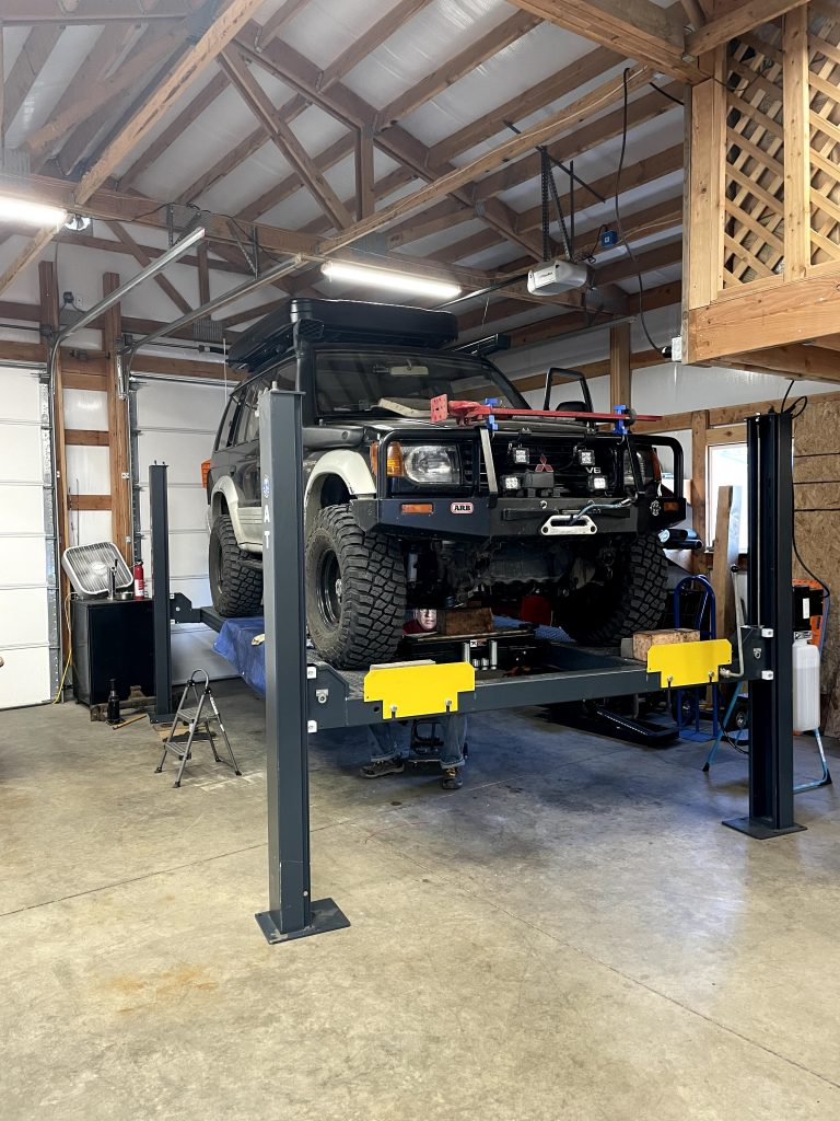 montero in garage